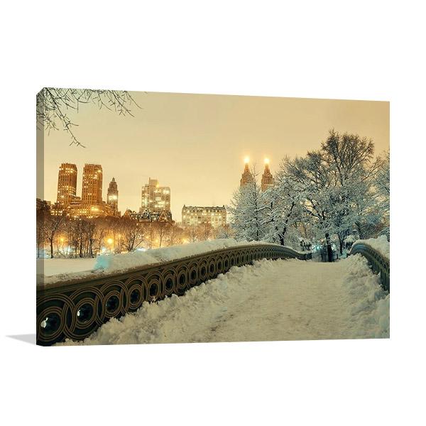 Winter Manhattan New York Print