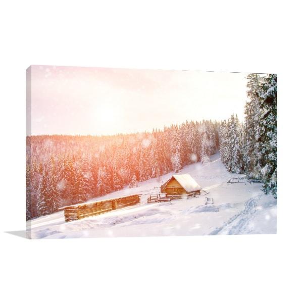 Winter Mountain Prints Canvas