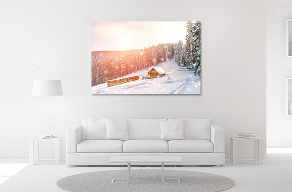 Winter Mountain Canvas Prints