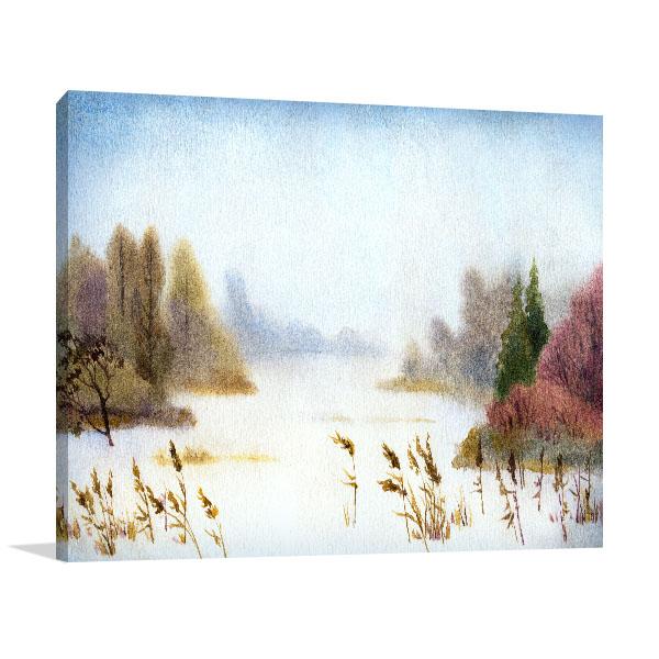 Winter Nightfall Canvas Prints
