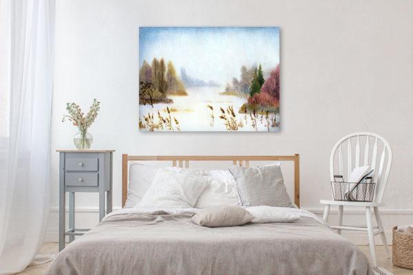 Winter Nightfall Canvas Art Prints