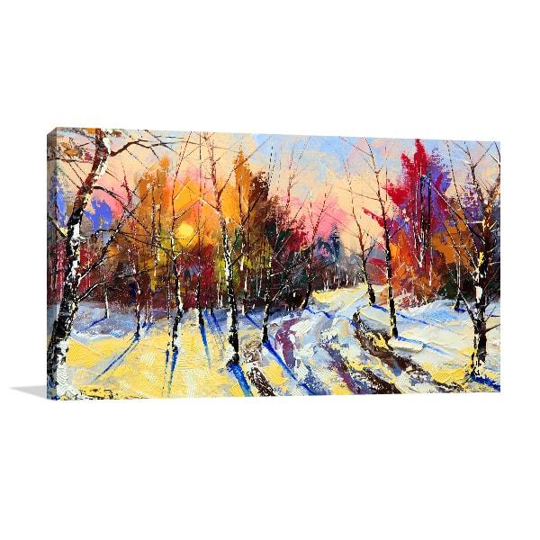 Winter Sunset Wall Art