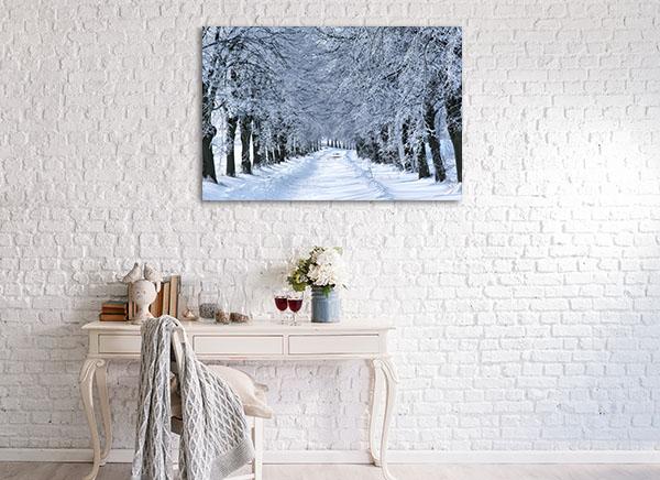 Winter Tree Alley Print Artwork