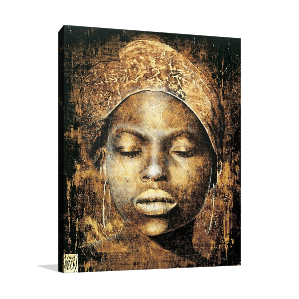 Woman African Tribal Print Canvas