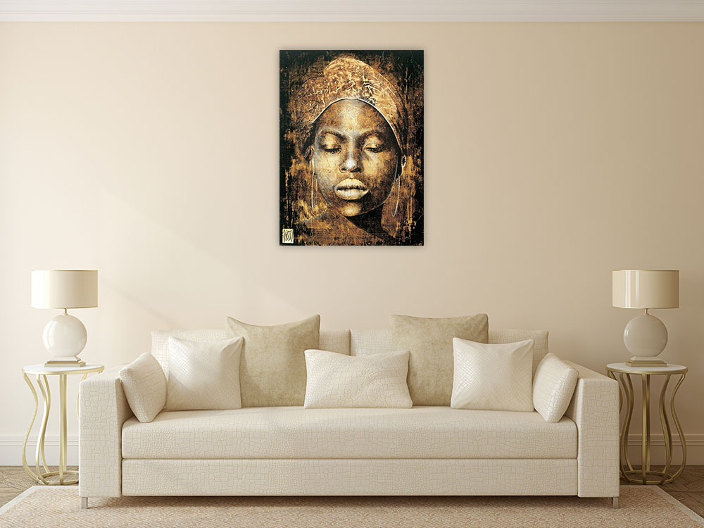 Canvas Art Print Black and Gold