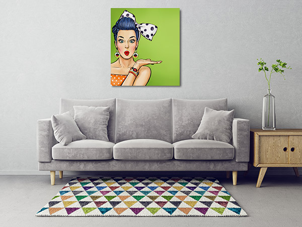 Woman in Makeup Canvas Art Prints