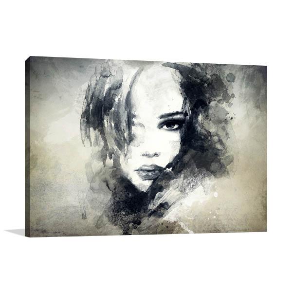 Woman Profile Wall Art