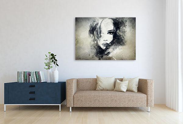 Woman Profile Art Prints