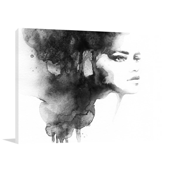 Woman Watercolour Canvas Prints