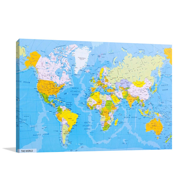 World Global Map Art Print