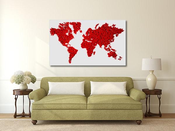 World in Red Artwork