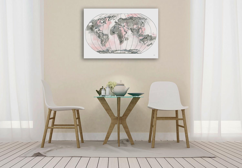 Blush Pink Art Print on Canvas