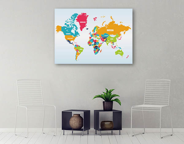 World Map Of Countries Artwork