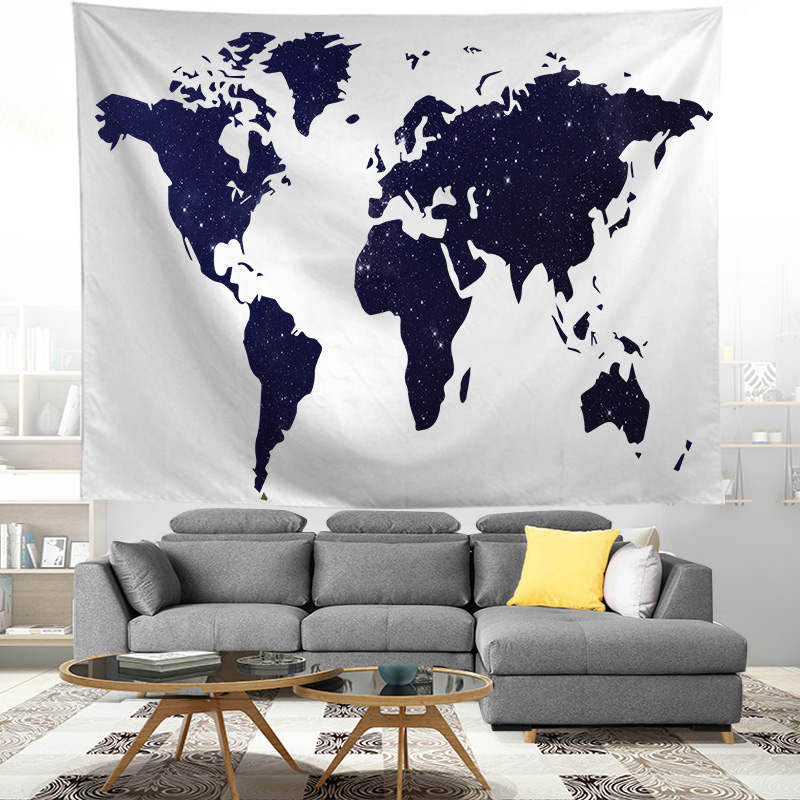 World Map Printed Tapestry Hanging | Perth