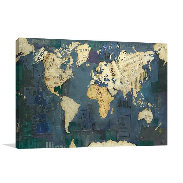 World Map Print | Kelsey Hochstatter