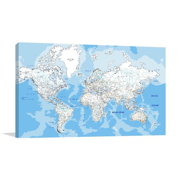 World Road Map Art Prints