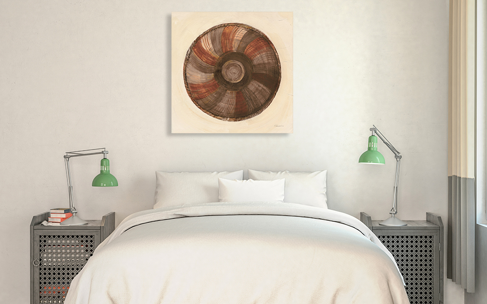 Bedroom Square Canvas Art Print