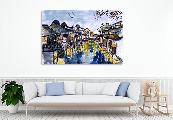 Wuzhen Village Prints Canvas