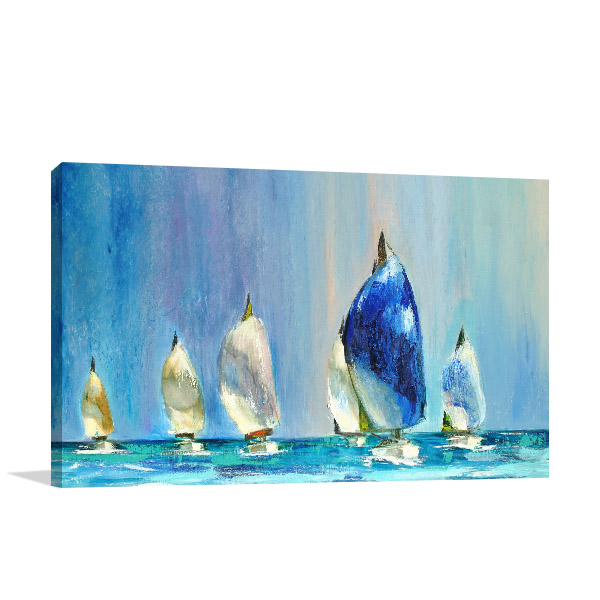 Yachts Sailing Wall Art