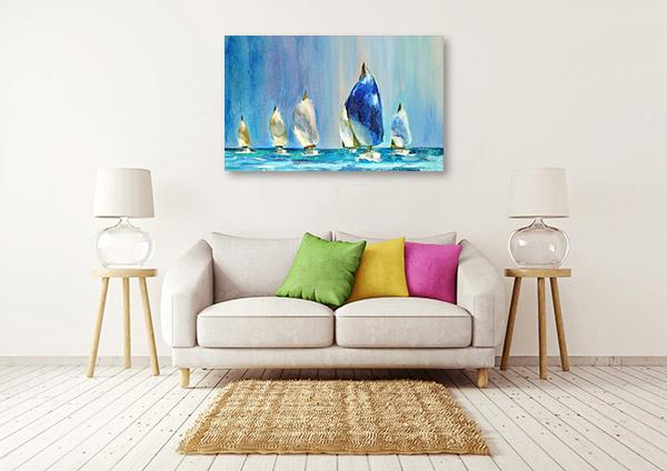 Yachts Sailing Canvas Art