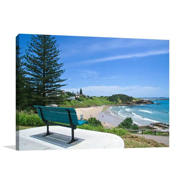Yamba Surf Beach Canvas Print NSW