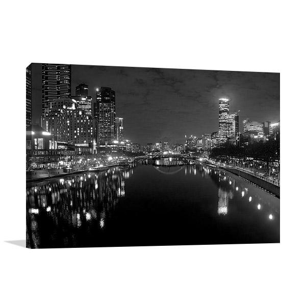 Yarra River at Night Melbourne Print