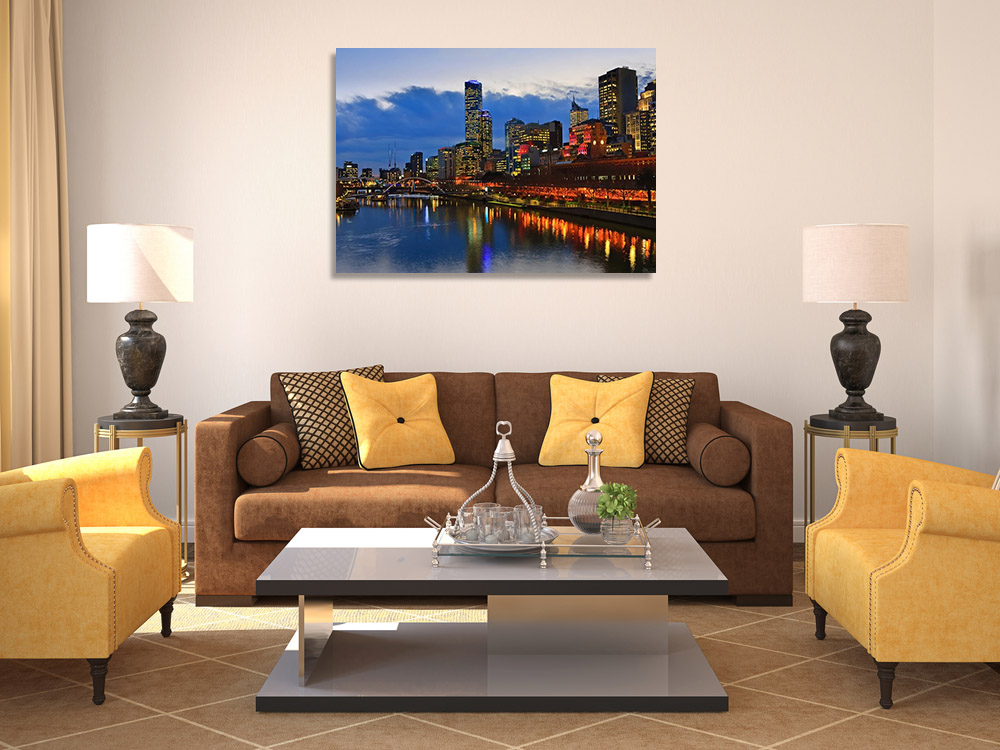 Yarra River Night Scene Print Melbourne