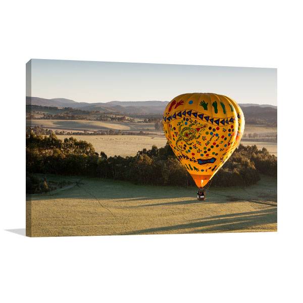 Yarra Valley Art Print Hot Air Balloon