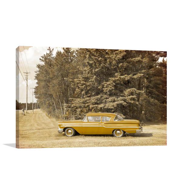 Yellow Oldtimer Canvas Prints