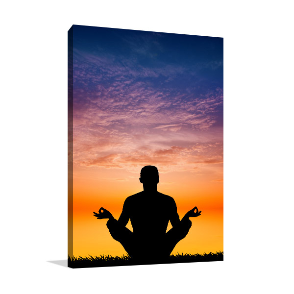Yoga in Sunset Wall Art