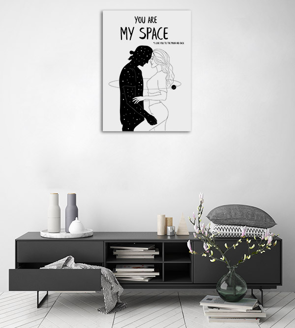 You Are My Space 2 Line Artwork Print