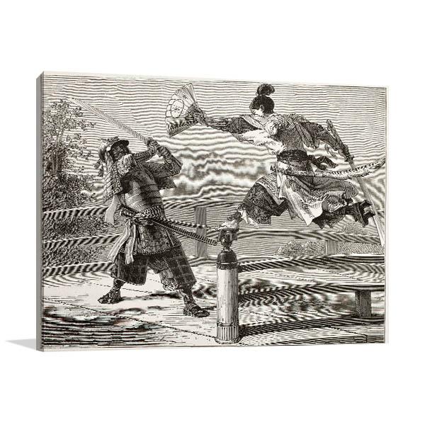 Youshitsune Samurai Canvas Prints
