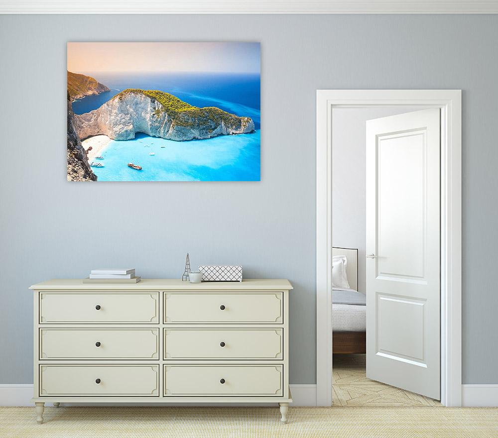 Island Beach Print on Canvas