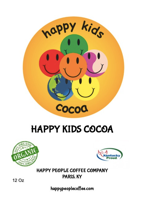 Help promote Happy Kids by providing free breakfast and lunch programs for needy children.  Our Happy Kids Cocoa is made in house using to of the finest light and dark cocoa powders available blended with confectioners sugar for a perfectly sweet and delicious deep chocolate flavor that delight big kids and little kids alike. Choose from Hot Chocolate (for milk) or Cocoa (for water) and enjoy the finest cocoa on this Happy Planet in your very own home. This is the same cocoa we use in house for all of our mochas and chocolate based drinks.  Plus, a portion of the proceeds will go to support the No Kid Hungry Project that provides free breakfast and lunch programs for needy kids in schools all around the country.