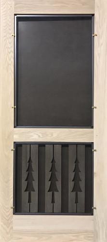 Premium Series Wood Screen Doors - Three Trees