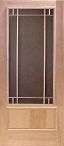 Premium Series Wood Screen Doors - Midlothian 3/4 View