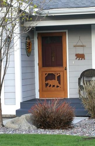 Premium Series Wood Screen Doors - Bear