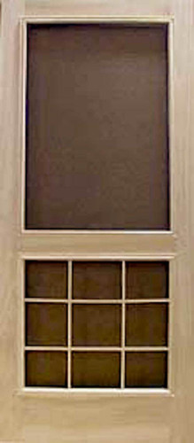 Premium Series Wood Screen Doors - Nine Light