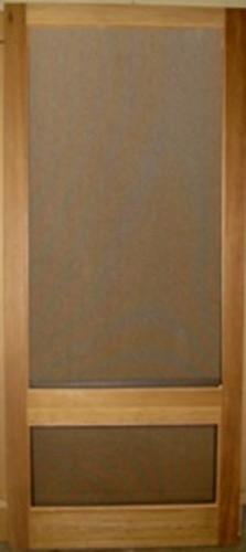 Standard Series Wood Screen Doors - Single Rail 3/4 View