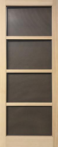 Standard Series Wood Screen Doors - Modern Four Light