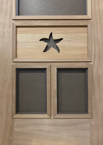 Premium Series Wood Screen Doors - Starfish
