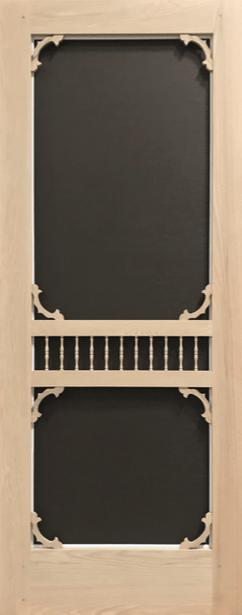Premium Series Wood Screen Doors - Garden View
