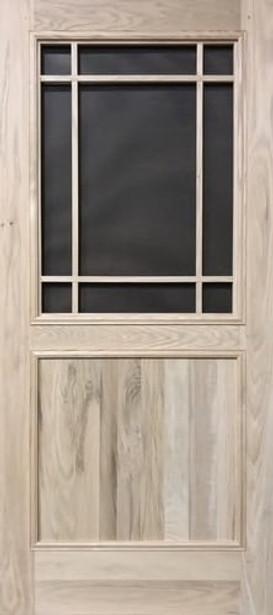 Premium Series Wood Screen Doors - Prairie 1/2 View