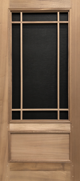 Premium Series Wood Screen Doors - Prairie 3/4 View