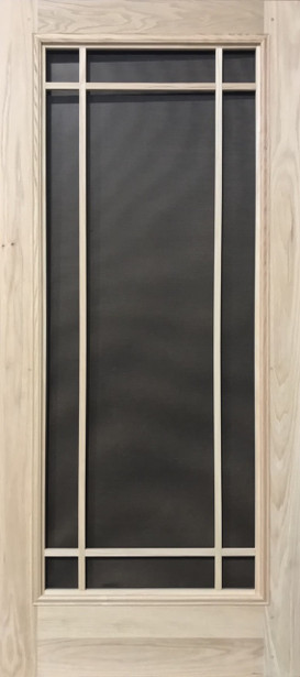 Premium Series Wood Screen Doors - Prairie Full View