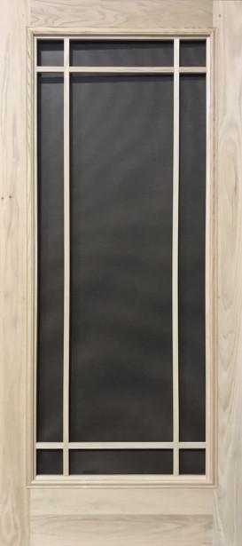 Premium Series Wood Screen Doors - Prairie Full View