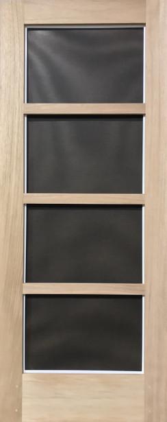 Premium Series Wood Screen Doors - Modern Four Light
