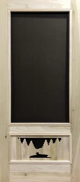 Premium Series Wood Screen Doors - River & Woods 3/4 View