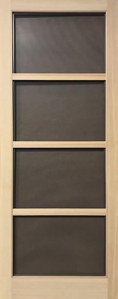 Select Series Wood Screen Doors - Modern Four Light