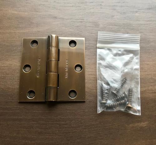 Premium 3x3 Hinge - New (Missing Finials)
